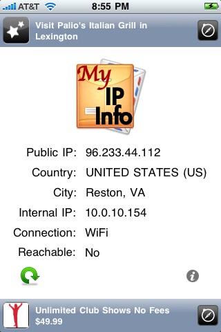 My IP Info screenshot 1