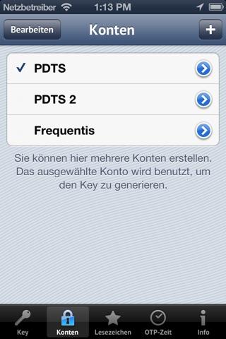iOTP screenshot 2