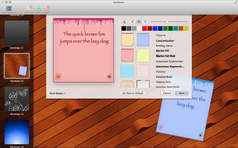 abc Notes - Checklist & Sticky Note Application Screenshot