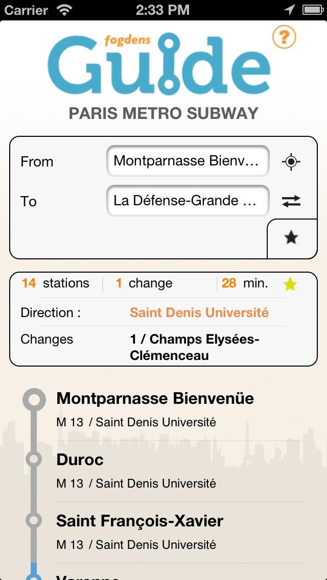 Guide Metro Paris ProСкриншоты 1