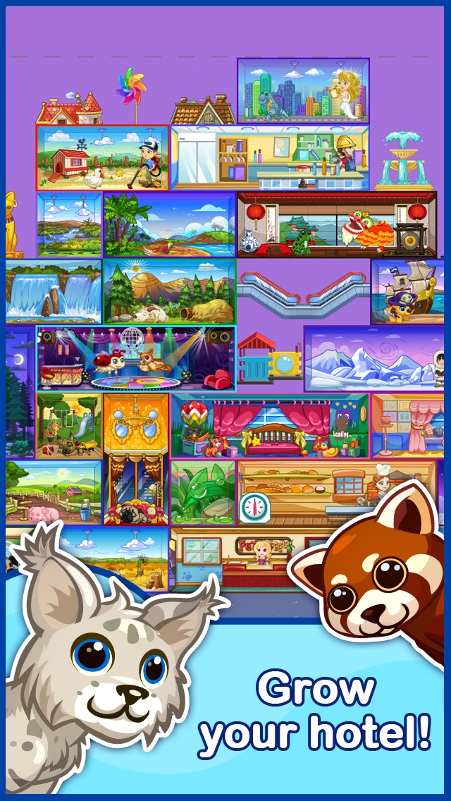 Screenshots of Tap Pet Hotel for iPhone
