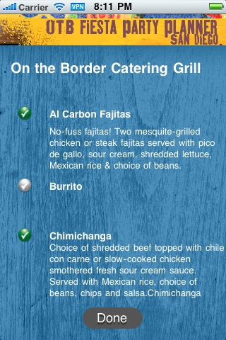 On The Border Fiesta Party Planner screenshot 4