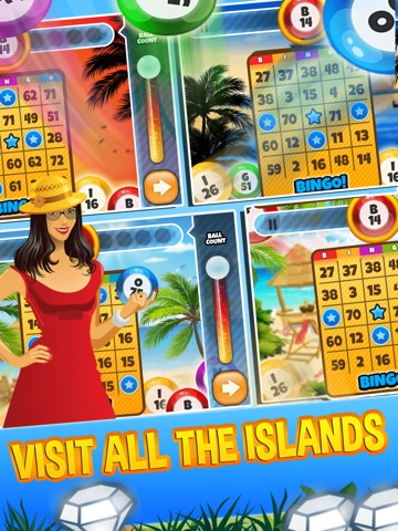 Screenshots of Bingo Bonanza Island - Win The Casino Numbers Game And A Lucky Beach for iPad