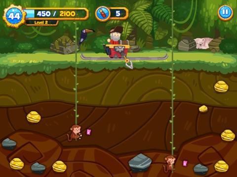 Screenshot #3 for Gold Miner Go! HD