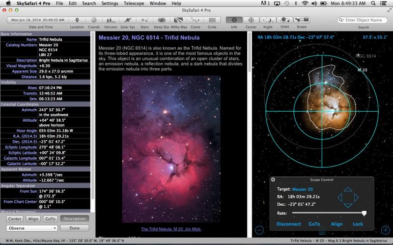 Screenshot #1 pour SkySafari 4 Pro