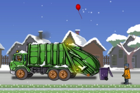 Garbage Truck: Snow Time screenshot 2