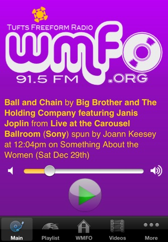 WMFO 91.5 FM Radio Player screenshot 1