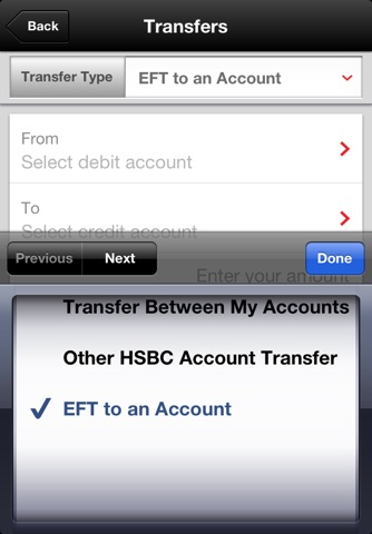 Pc financial transfer between accounts