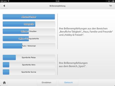 ZEISS Brillenglas-Beratung Screenshot
