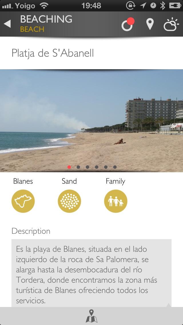 Screenshot of Beaching App Costa Brava5