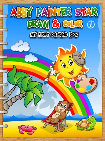 Abby Monkey® - Painter Star: Draw and Color - My First Coloring Book screenshot 1