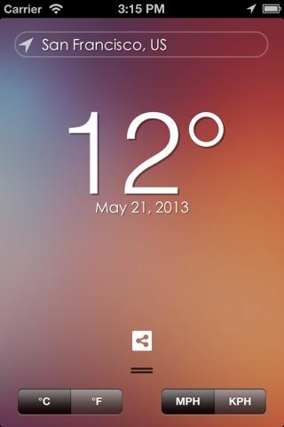 Minimalist Weather screenshot 1