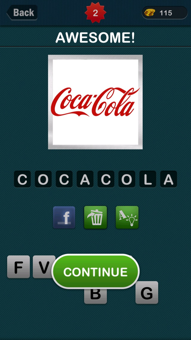 Screenshots of LogoGuess : #1 Logo Guess The Word about brand for iPhone