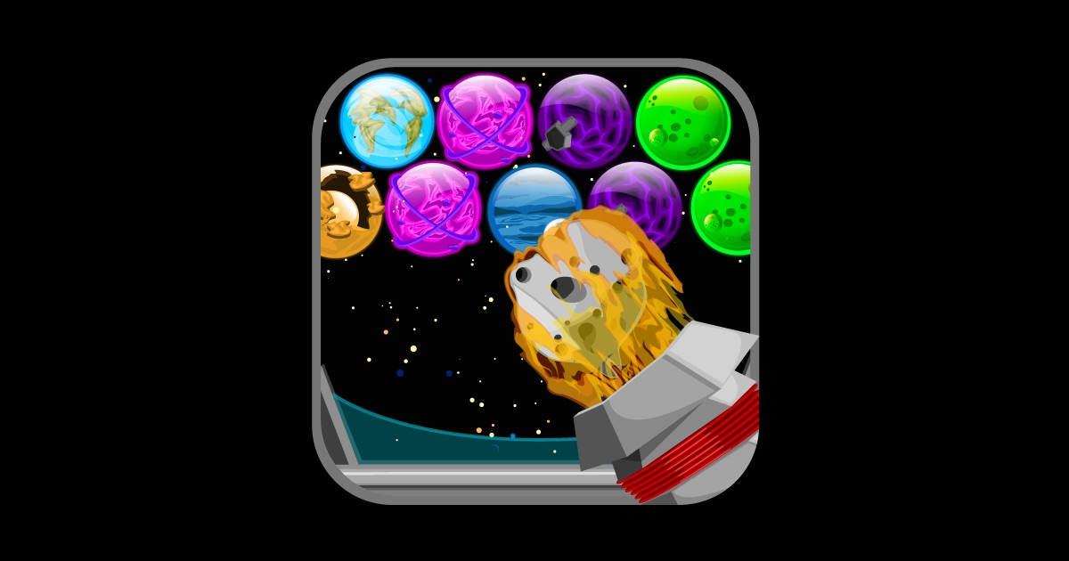 bubble planets blitz bust balls on the app store. Black Bedroom Furniture Sets. Home Design Ideas