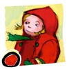 Red Riding Hood HD is a classic fairy tale app for kids about a young girl and a big bad wolf (by Auryn Apps)