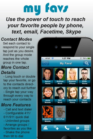 my favs Quick Connections for all your Contacts screenshot 1
