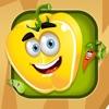 Attivo! Imparare gioco per il giardino per i bambini con frutta, verdura, fiori e piante