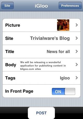 iGloo screenshot 1