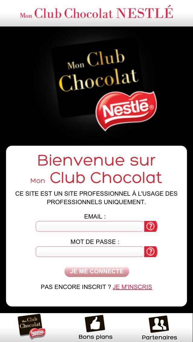 Mon Club Chocolat NESTLECapture d'écran de 1