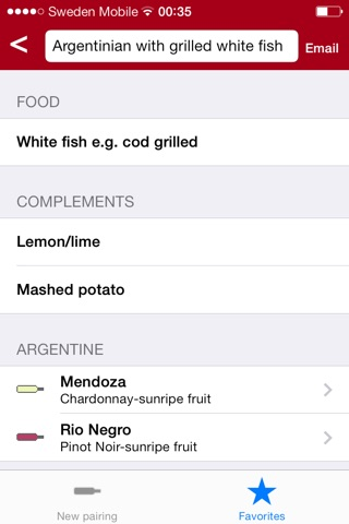 Wine for food pairing pro screenshot 3