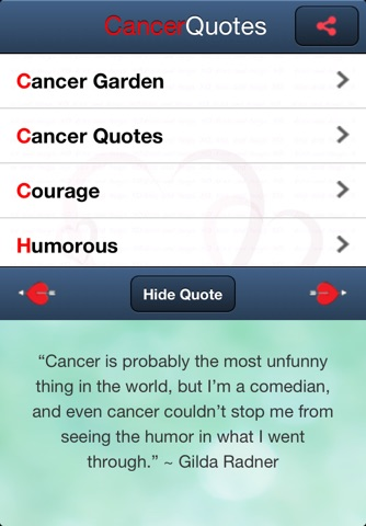 Cancer Quotes screenshot 1