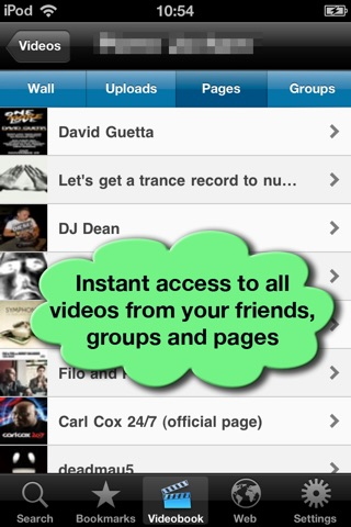 VideoTime for Facebook - Find, Play & Share Videos of your Friends Screenshot 4