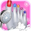 Celebrity Foot Spa - Monster Nail Design by