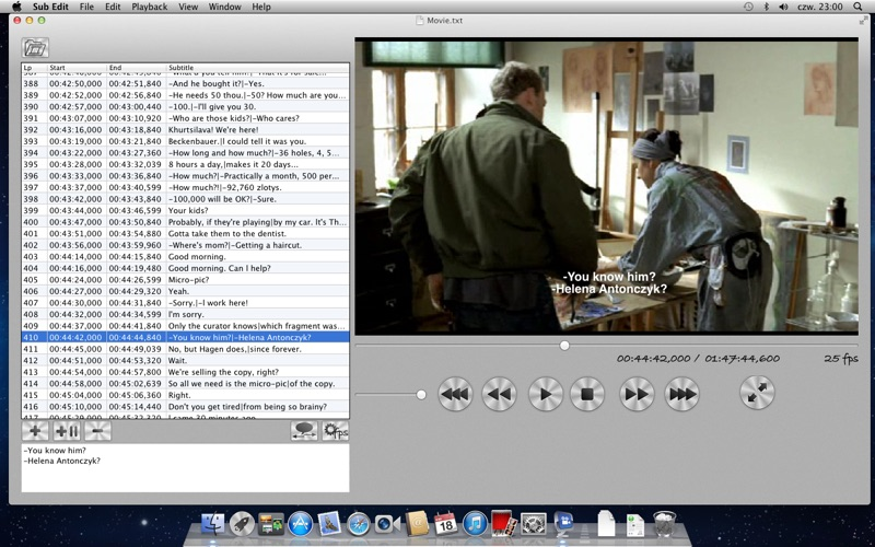 Sub Edit - subtitles editor and movie player on the Mac App Store