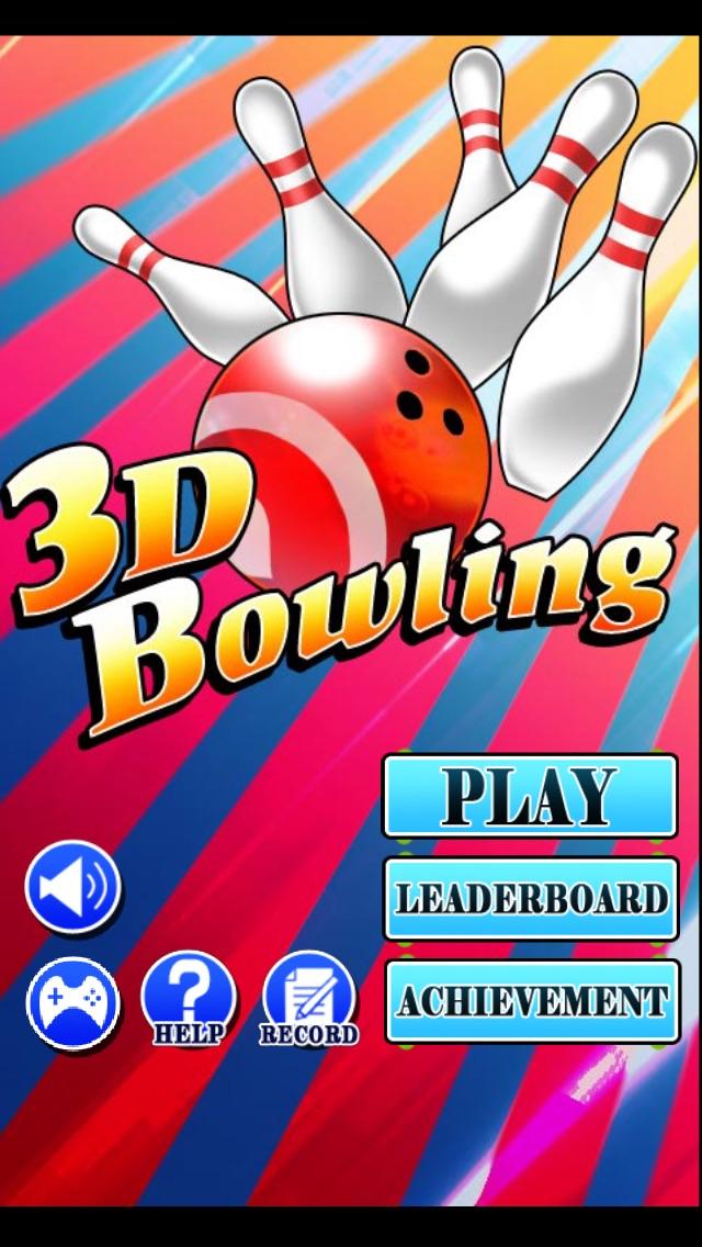 3Dボウリングゲームのスクリーンショット1