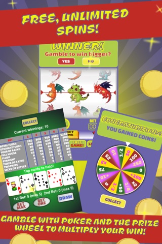 Dragons Slot Machine & Poker: Bet On It & Spin To Win! screenshot 1