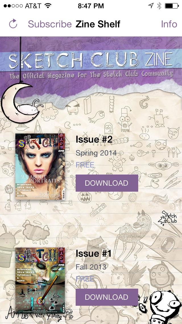 Sketch Club Zine review screenshots