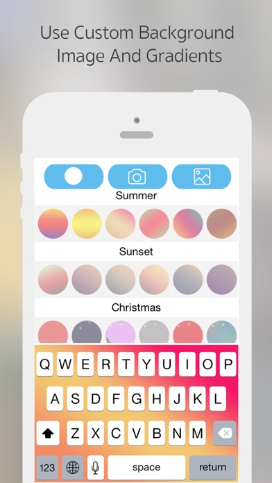 Screenshots of Font Changer - Color Keyboard Themes & Custom Fonts Keyboard for iPhone