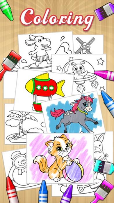 Kids Doodle Coloring Book HD