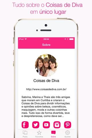 Coisas de Diva - Tudo sobre beleza, cosméticos, maquiagem, moda e outras coisinhas mais screenshot 4