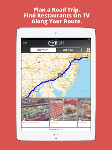 TV Food Maps Restaurants On TV Road Trip Planner Diners Drive - Us road map for ipad