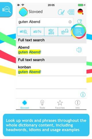 Japanese <-> German Slovoed Compact talking dictionary screenshot 2