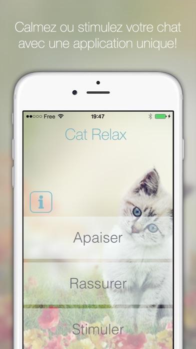 Screenshot for Cat Relax : ambiance musicale pour chats , relaxation ou stimulation de votre animal . Amusez vous en regardant vos chats réagir aux musiques composées pour eux! in France App Store