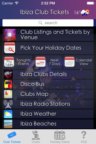 Club Tickets screenshot 1