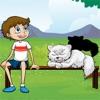 活動! 暗影遊戲兒童學習和玩貓