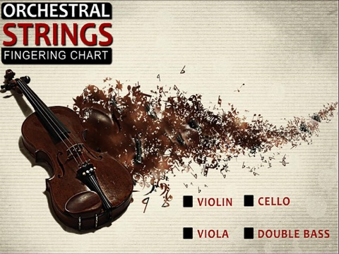 Orchestral Strings Fingering Chart Violin Viola Cello String