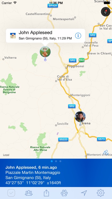 PlaceTrack - family tracking and location sharing Screenshots