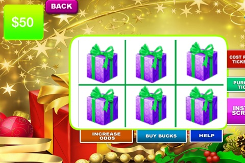 Christmas Lotto Scratch - Santa background and fun themes to play screenshot 4