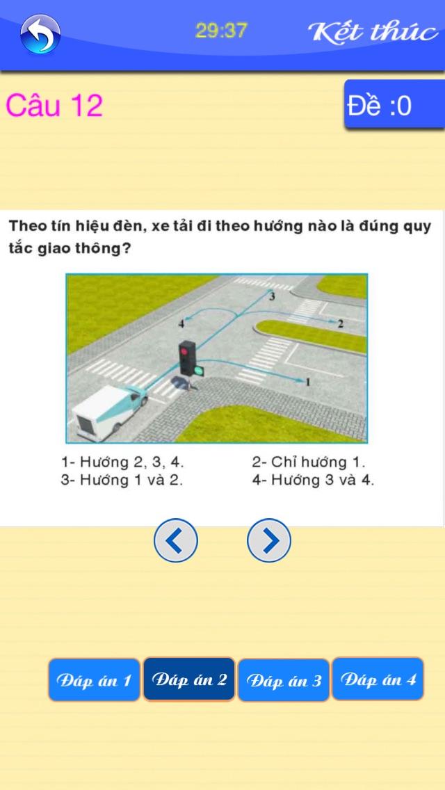 download Thi sát hạch GPLX-15 đề - 450 câu apps 3