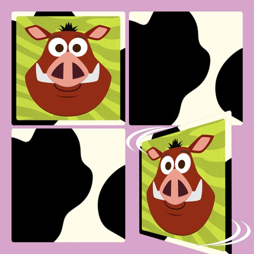 Play with Wild Animals - The 1st Cartoon Memo Game for a toddler and a whippersnapper free iOS App