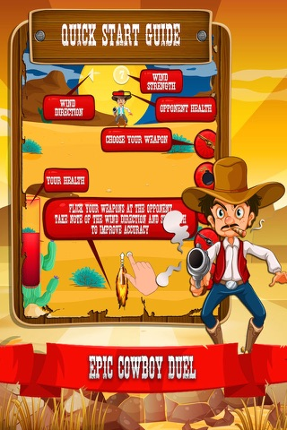 Cowboy Quickdraw - Wild West Shootout! screenshot 2