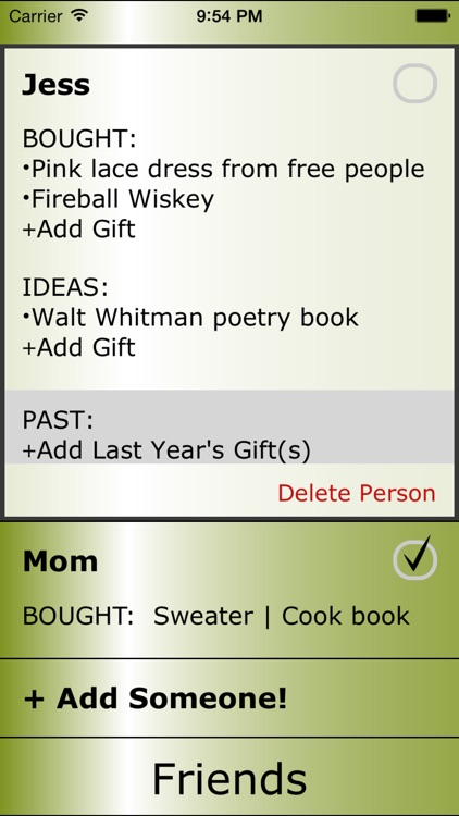 christmas list by red room software by red room software