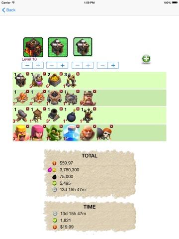 Clash Rechner Screenshot