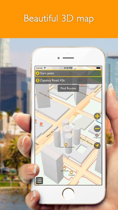 download Los Angeles offline map with public transport route planner for my journey apps 4