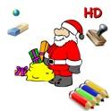 24 desenhos de Natal para colorir para crianças para iPad com Papai Noel, árvores de Natal, duendes,