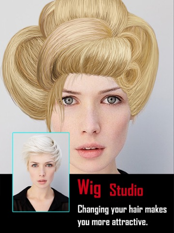 Screenshots of Insta Wig Studio - Hair Editor Booth to Design Hairstyle plus Change Color Effects for iPad
